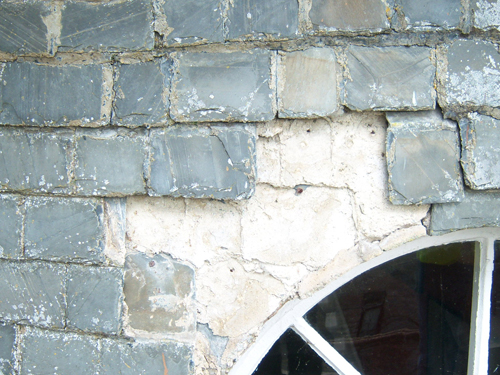 Damage To Slates On West Wall