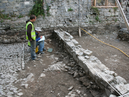 Archaeological Excavation Of Cobbles