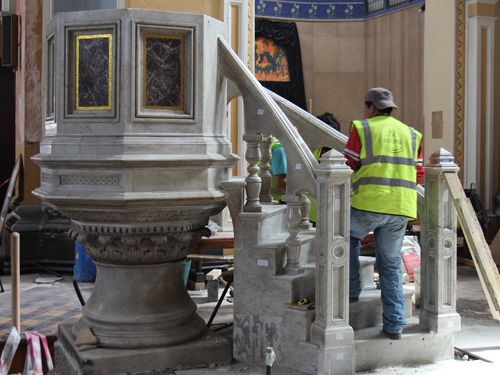 Pulpit Re-assembly