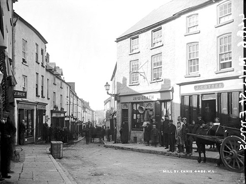 Historic Photograph High Street Ennis, Formerly Mill Street