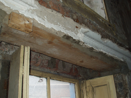 Window Lintel During Works