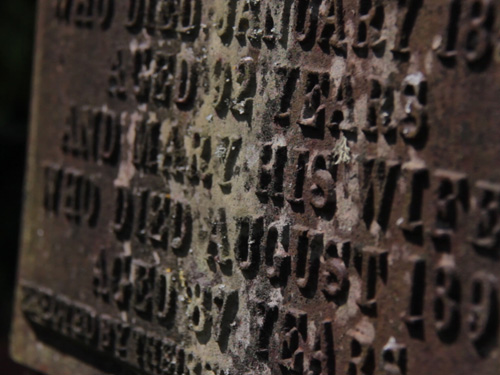 Detail Of Text On Cast Iron Plate