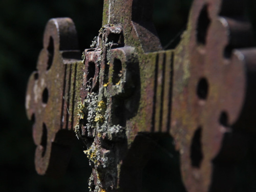 Detail Of Cast Iron Cross