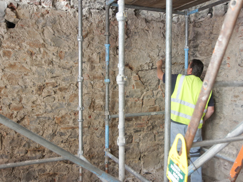 Repointing Creggs Medieval Wall