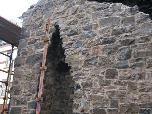 North Gable End During Repair