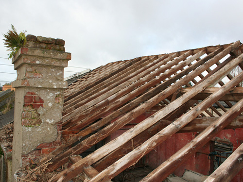 Roof & Chimney Prior To Repairs