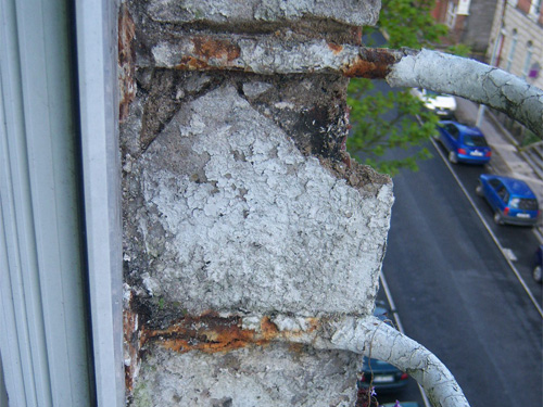 Rust Damage To Bars On Third Storey Window