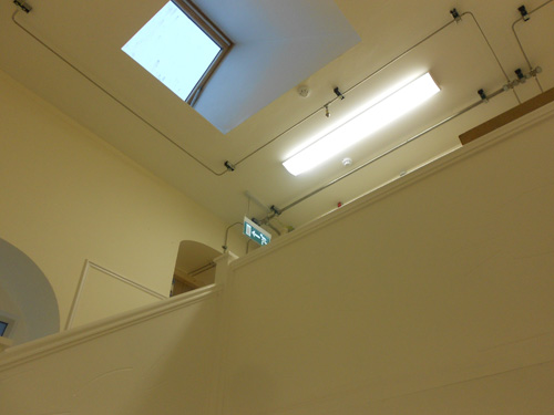New Services In Stairs Including Emergency Lighting