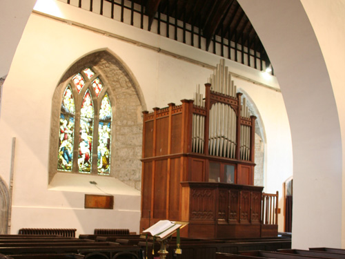 Interior Of Church With Organ