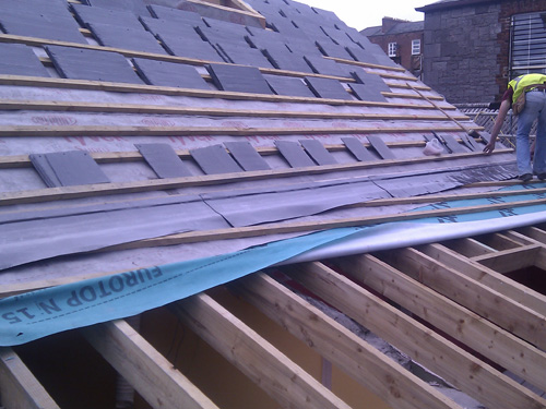 Reslating Roof With Natural Slate