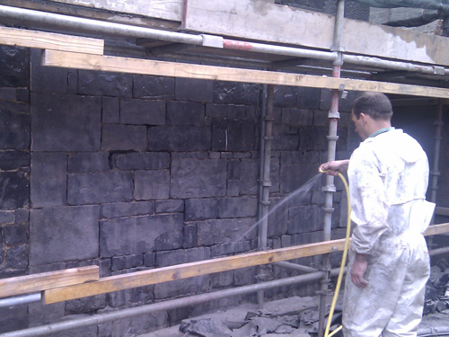 Completed Soda Blasting